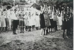 Physical exercise was an important component of 4-H Camp, even back in the 1930's!