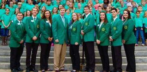 Danielle with her state officer team and Adam Putnam, Florida Commissioner of Agriculture and 4-H Alum.