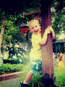 Clayton ( Sheila's grandson) will reap the benefits of the trees planted this Arbor Day.