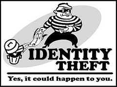 Identity Theft Protection Cartoon Image
