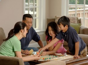Family game night promotes bonding. Photo credit: commons.wikimedia.org
