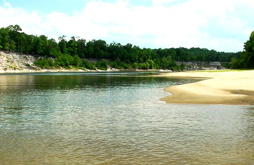 Meandering Apalachicola River connects the watershed to Apalachicola Bay and eventually the Gulf of Mexico