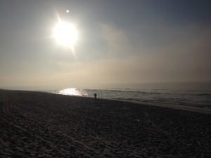 The spring equinox sunrise over Santa Rosa Island, March 21