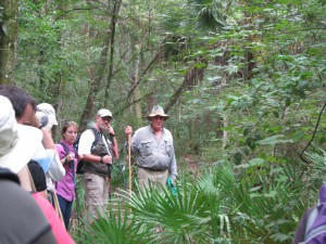 Panhandle residents explore the area of Aucilla Sinks with local guide David Ward. Photo: Jed Dillard