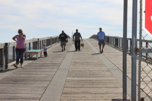 The Navarre Fishing Pier extends over 1500 feet. Not only a great place to fish but a great place to view marine life.