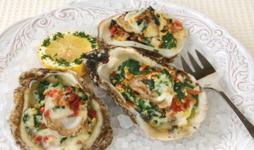 No need to feel left out! Fully cooked oyster dishes like Oysters Rockefeller are a coastal classic that's safe and tastes great!