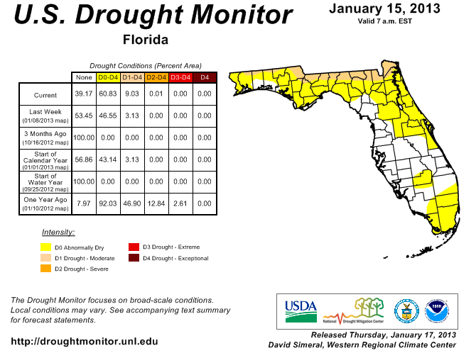 1-15-13 Drought Monitor
