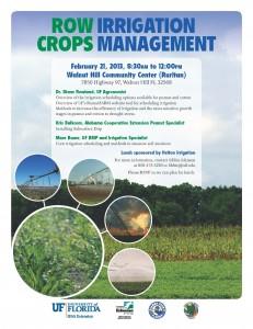 Irrigation flyer workshop