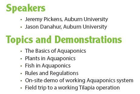 Aquaponics 101 workshop - UF/IFAS Extension Santa Rosa County