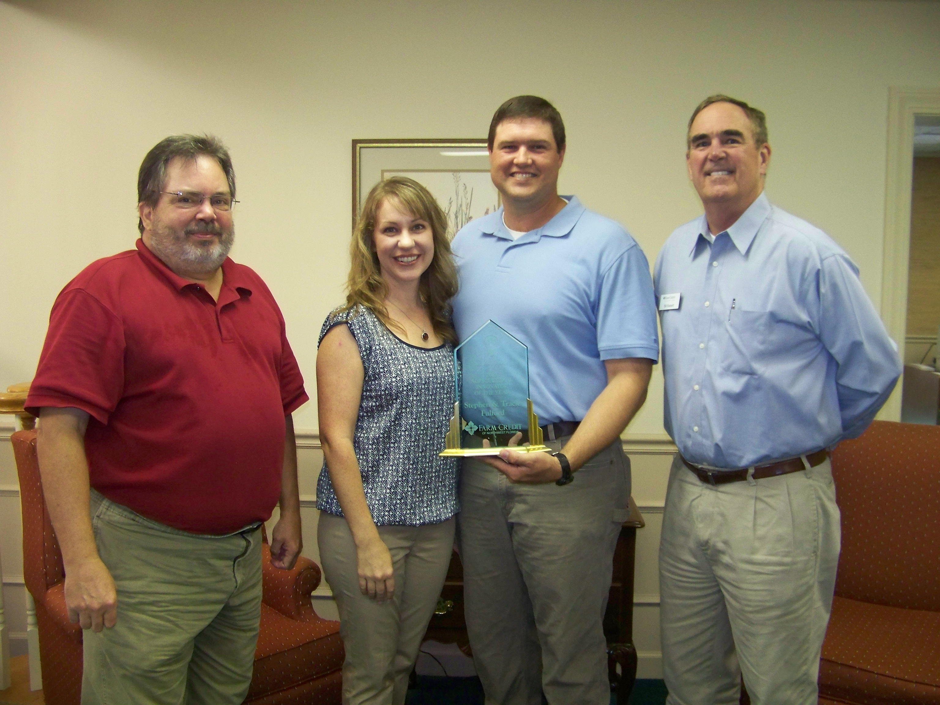 From left: Jed Dillard, Jefferson Co. Extension, Tracie and Stephen Fulford, Bill Bassett, Northwest Florida Farm Credit