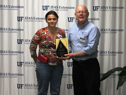 Rachel McClure and Les Harrison, Wakulla County Extension Director.