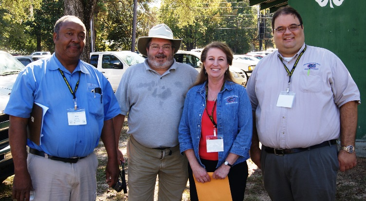 Members of the Beekeeping Trade Show and Field Day Planning Committee. Agricultural Agents Roy Carter, Jed Dillard, Judy Ludlow and Horticulture Agent Matthew Orwat.