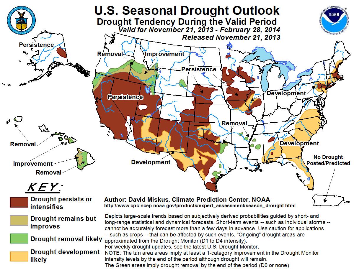 Nov 13 Seasonal Drought Outlook