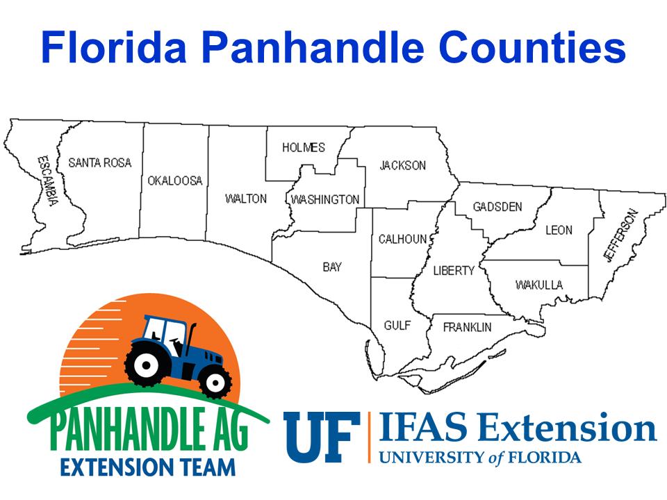 Florida Panhandle Counties Map