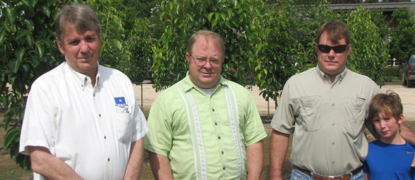 Fred, Rob and Thad Beshears with Jeb standing in for his Uncle Halsey.