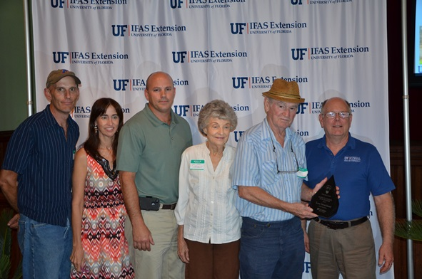 Les Harrison, Wakulla County Extension recognized Tony Strickland as Agricultural Innovator in Wakulla County.