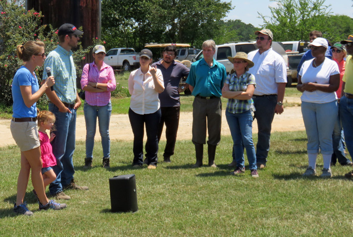 Brad and Meghan Austin provided a tour of Cindale Dairy. Photo credit Doug Mayo
