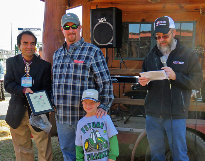 Justin Williams, Bonifay had the top Perennial Peanut Hay entry with an RFQ score of 179.