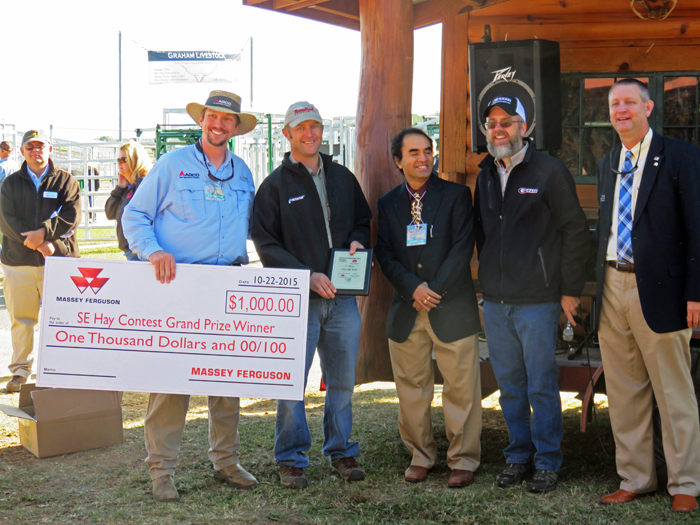 McGee Ranch in Idalou, TX was the 2015 overall SE Hay Contest winner with an entry of extremely high quality alfalfa hay that maxed out the RFQ index at 300.