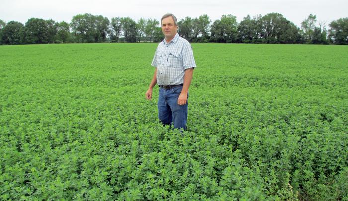 Jackson County alfalfa producer Bill Conrad. Photo credit: Doug Mayo