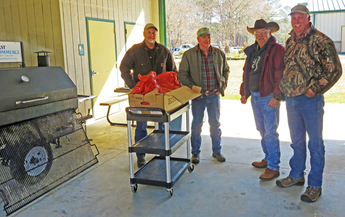 """The Jackson County Cattlemen's Association """"Cooking Crew"""" grilled 190 steaks for the lunch this year. They were delicious. Thanks guys!"""