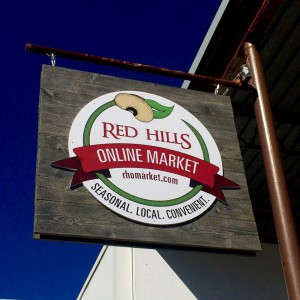 Red Hills Online Market sign. Photo by Cassie Dillman.