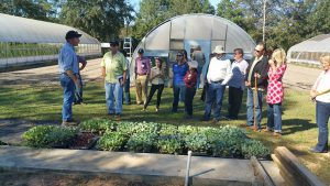 Participants of the Protected Agriculture Tour visited Fox Family Farm in Cottondale, FL. Photo Credit: Libbie Johnson, UF/IFAS Extension.