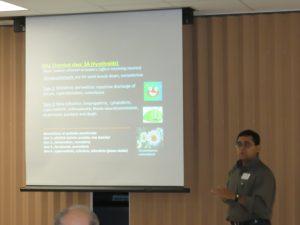 Dr. Ayanava Majumdar presenting at the Panhandle Fruit & Vegetable Conference.
