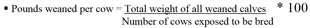 pounds-weaned-equation
